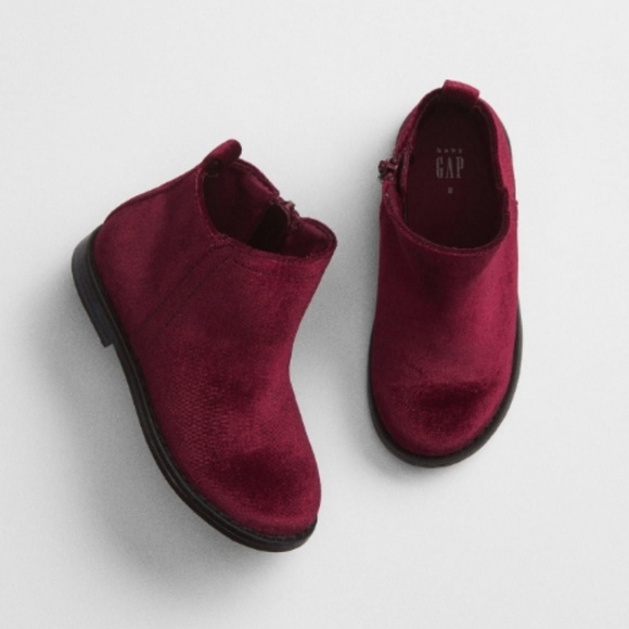 GAP Other - GAP || Faux Velvet Ankle Booties